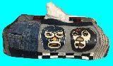 子供服 ◆◆◆AT88MF★プロレスマスクマン★パッチワーク ティッシュボックス