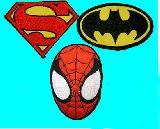 子供服 ◆◆◆★アメキャラ アイロンワッペン:スパイダーマン:スーパーマン バットマン