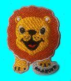 子供服 ◆◆◆RF88A アニマル保育園 ライオン アイロンワッペン