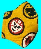 子供服 ◆◆◆MF★大人用マスク★プロレス マスクマン キイロ M・Lサイズ