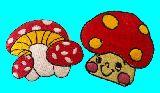 子供服 ◆◆◆RF88A★ アイロンワッペン きのこ 2種類セット