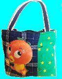 子供服 ◆◆◆★トートバッグ★マグネット付き パッチワーク・オレンジバード